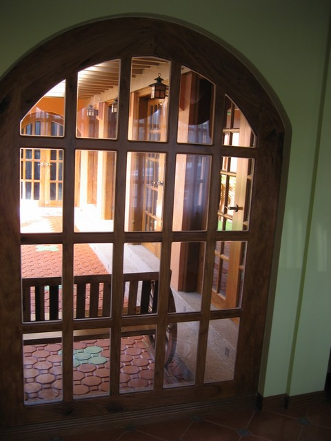 Foyer window into courtyard